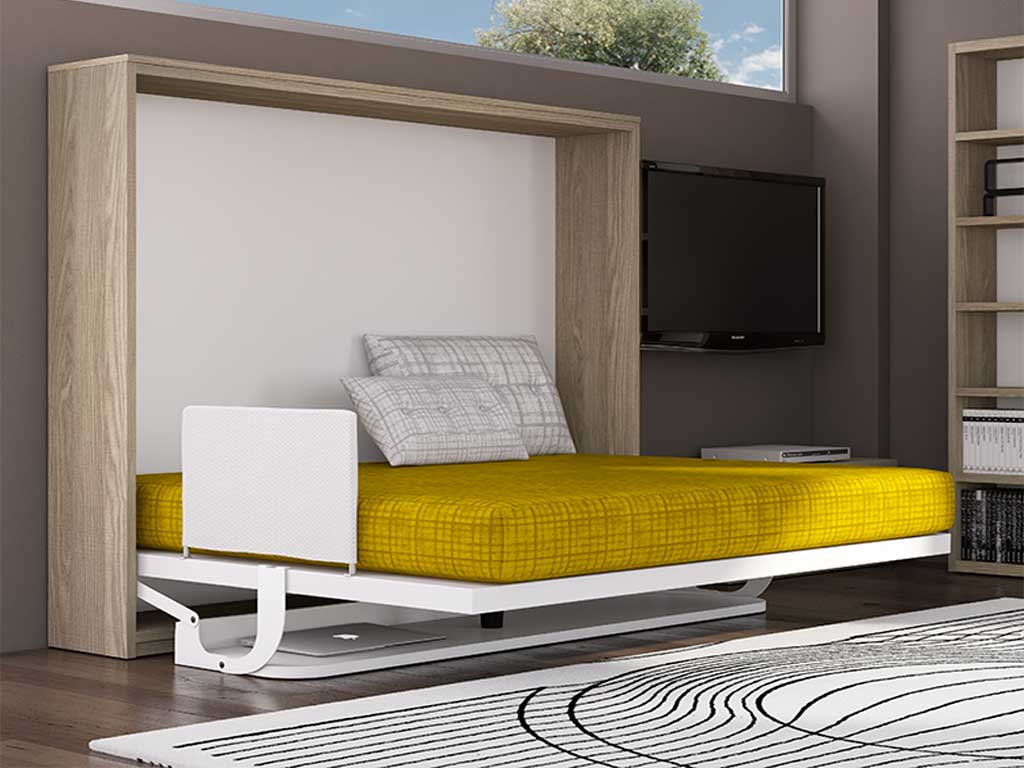 Cama abatible con mesa mr muebles - Muebles arganda horario ...
