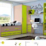 Mueble Juvenil en colores pistacho y visón