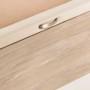 canapé zapatero en madera color roble vintage