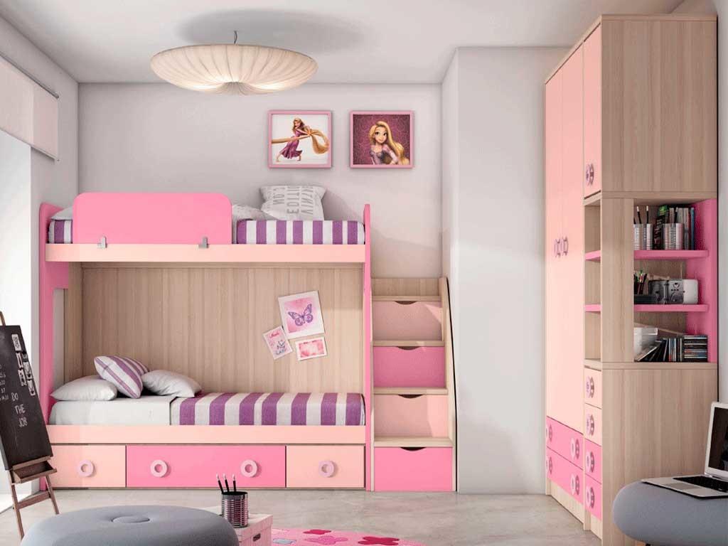 Habitaci n juvenil con litera n 315 muebles - Muebles arganda horario ...