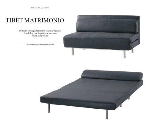 Sofá cama para espacios reducidos.