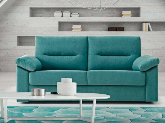 Sofá cama de apertura Italiana.Respaldo reclinable