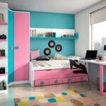 Dormitorio juvenil con cama compacta,con cama intermedia y cajones