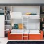 Litera abatible con sofá modelo white abierto