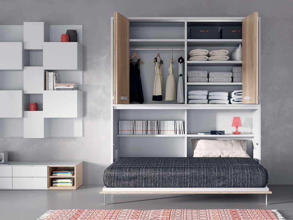 Cama abatible modelo soft muebles - Cama armario plegable ...