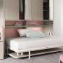 Cama abatible con armario y mesa plegable