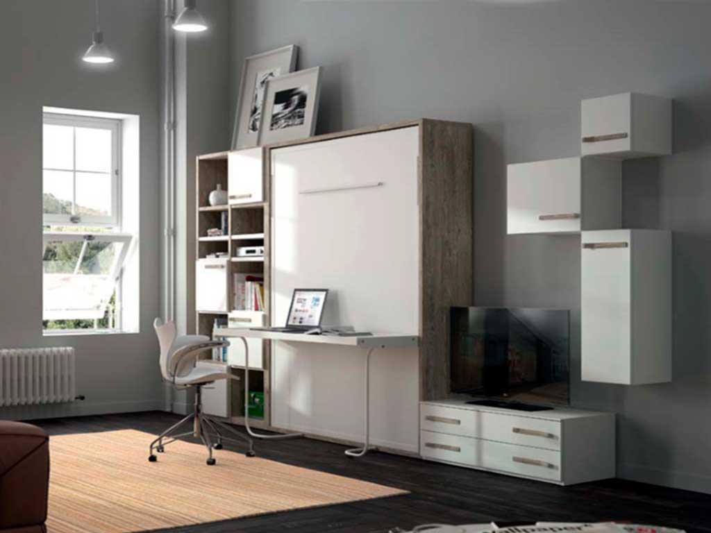Cama abatible con escritorio n 1 muebles - Cama con mesa incorporada ...