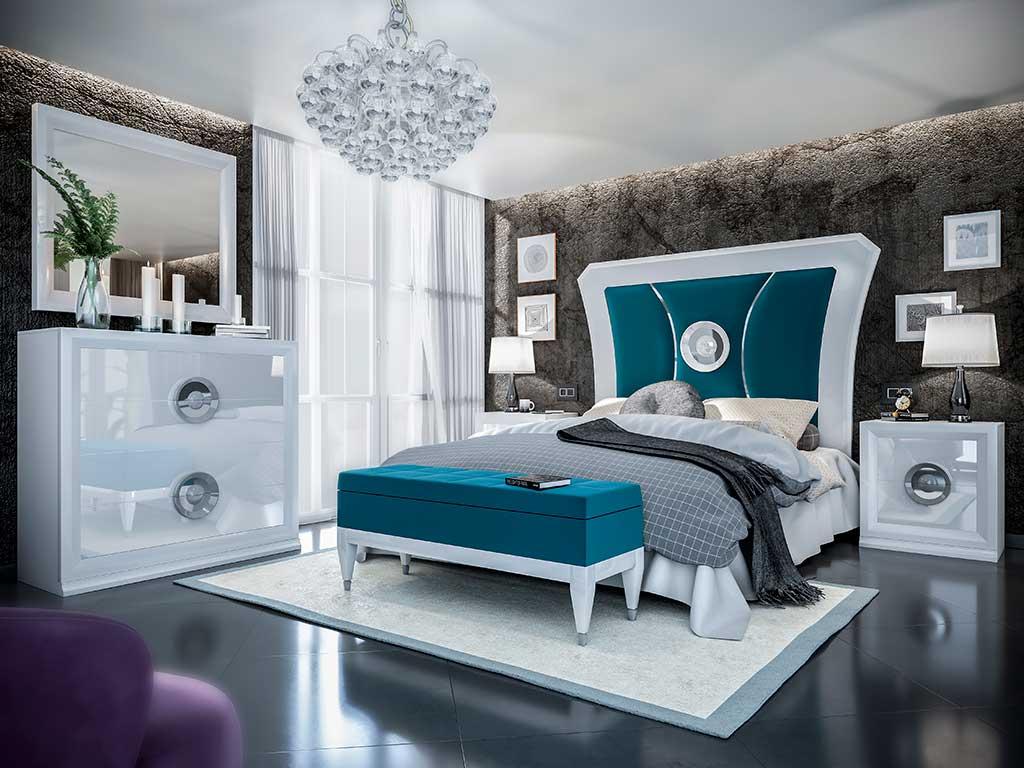 Dormitorio de matrimonio lacados brillo y mate.
