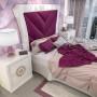 Dormitorio de matrimonio de madera lacados mate y lacados brillos.
