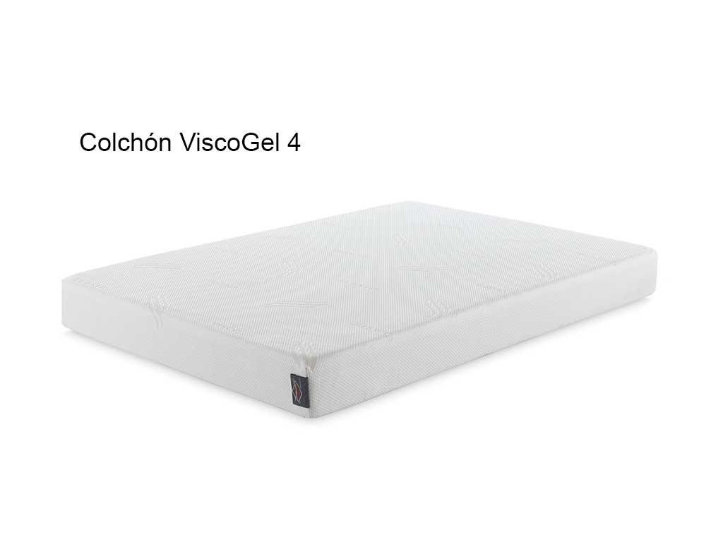 Colchón modelo Visco gel 4,ergonómico,antiácaros y viscolástico.