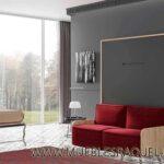 Cama abatible Vertical Live 34,5 con sofá para Pladur.Transporte gratuito