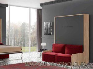 Cama abatible Vertical Live 34,5 con sofá
