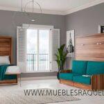 Cama abatible horizontal space 34,5 con sofá-arcón para pladur.Transporte gratuito