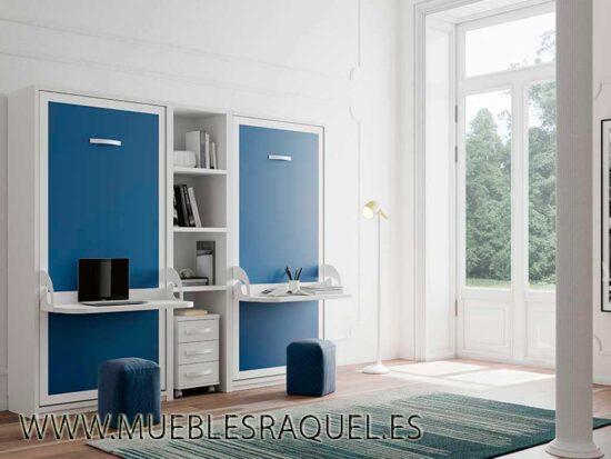 Cama vertical con escritorio