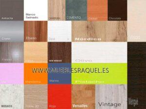 Colores maderas