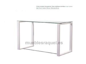 Mesa de cristal 120 benetton