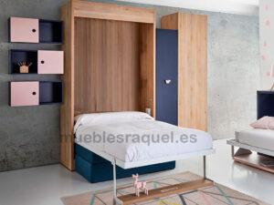 cama abatible juvenil con sofa  ot7