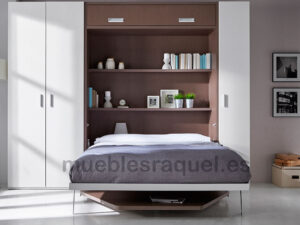 cama con mesa salon altillo y estantes ot9